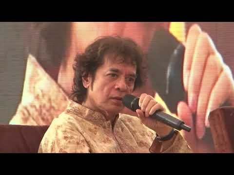 Ustad Zakir Hussain at Kolkata Literary Meet 2018