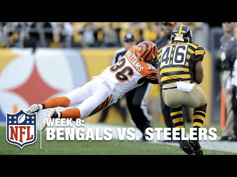 Shawn Williams Comes Out of Nowhere & Dives for an Amazing INT! | Bengals vs. Steelers | NFL
