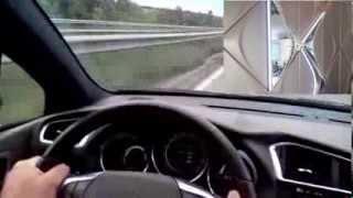 pointe de vitesse en citroen ds4 200 ch  235 km h sur autoroutes allemandes