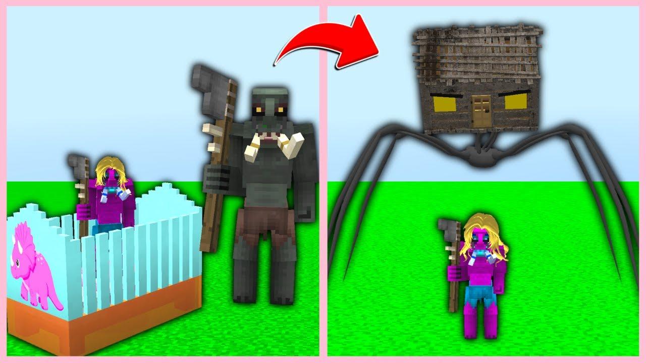 HUYSUZUN KIZ BEBEĞİ OLDU KORKUNÇ EV KAÇIRDI! 😱 - Minecraft