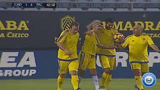 Cádiz vs Pachines partido amistoso | Resumen de goles | Homenaje al mágico González