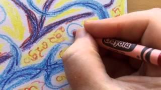 Drawing Journal 2 Crayola Crayons Warm Up Exercise