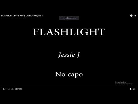 FLASHLIGHT JESSIE J Easy Chords and Lyrics 1