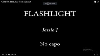 FLASHLIGHT JESSIE J Easy Chords and Lyrics 1