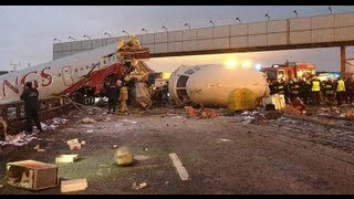 Крушение Ту-204 во Внуково / Passenger jet crashes into highway Thumbnail