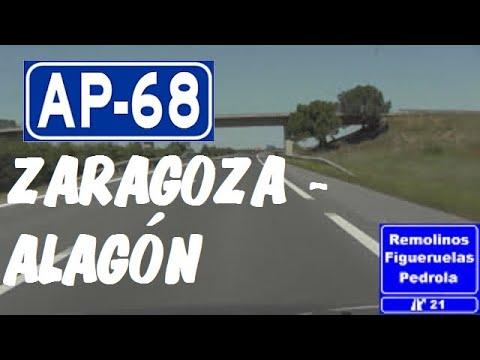 AP-68 Zaragoza , Autopista del Ebro , Tramo Zaragoza Oeste - Alagón / West of Zaragoza , Spain.