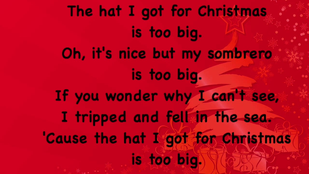 the hat i got for christmas is too big - The Hat I Got For Christmas Is Too Big