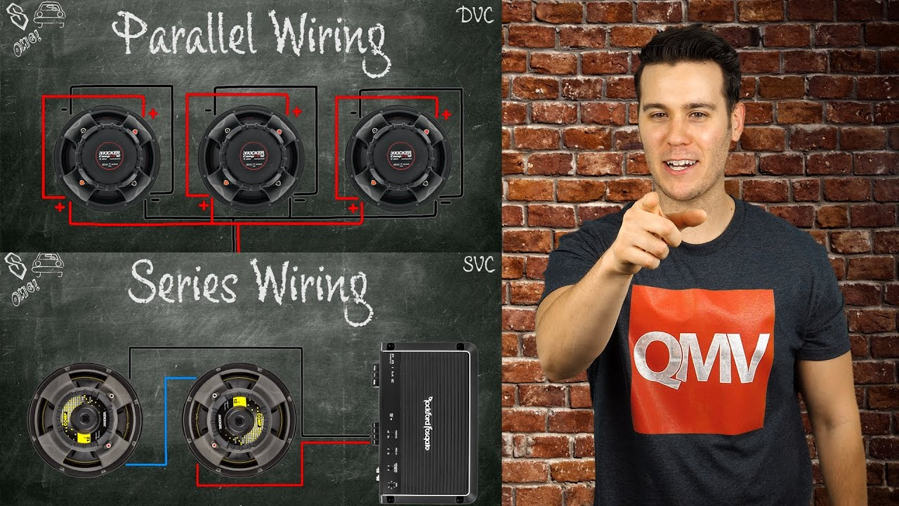 How To Wire Subwoofers Parallel Vs Series Single Voice Coil And 2 Ohm Subwoofer Wiring Diagram Dual