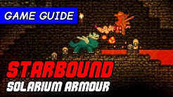 How to find Solarium ore/stars to make best armour & fuel   Starbound Game Guide