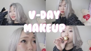 Valentine's Day Soft Ulzzang Makeup Look ♡ Collab Ft. BeautyByBriddy