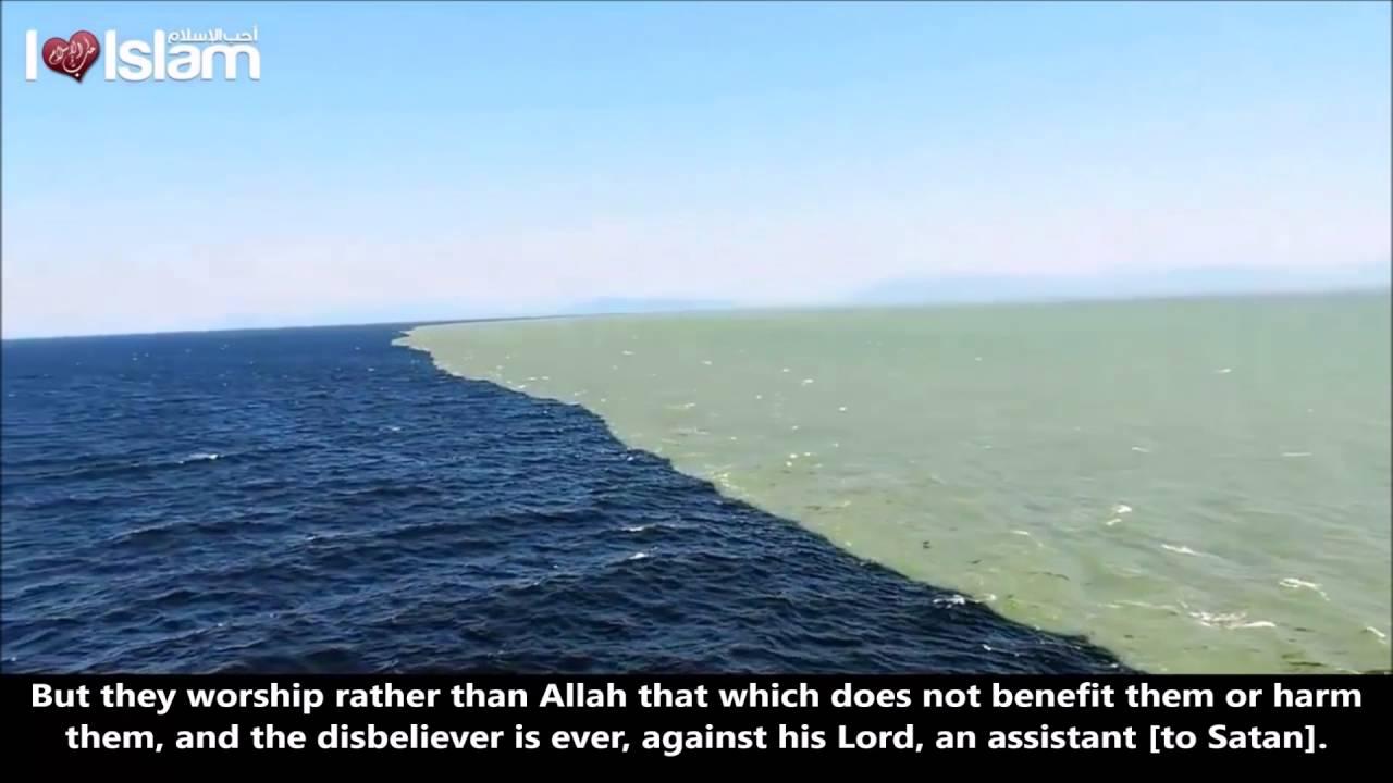 Zwei Meere Treffen Aufeinander