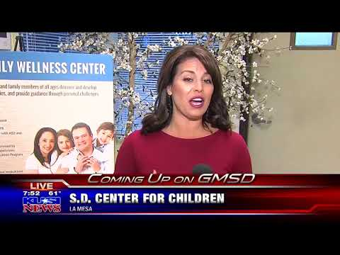 KUSI features the San Diego Center for Children's Family Wellness Center in La Mesa Part 1