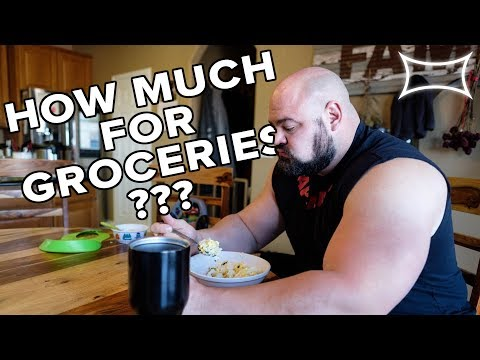 Check out THIS Grocery Bill! - 4X World's Strongest Man BRIAN SHAW at MY HOUSE!