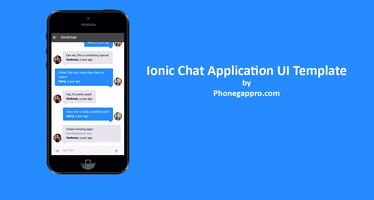 ionic chat application template   apache