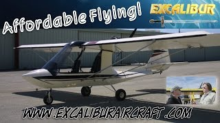 Excalibur Aircraft, affordable, tandem two seat experimental aircraft kit.