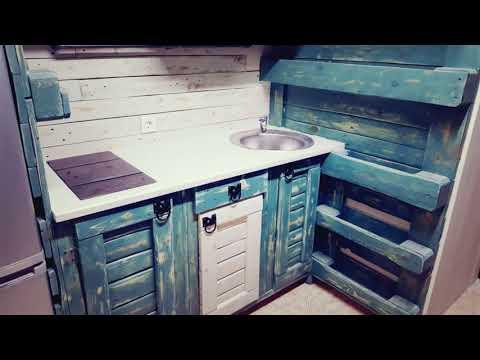 Кухня из поддонов своими руками фото