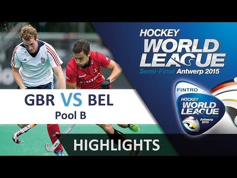 Great Britain v Belgium Match Highlights - Antwerp Men's HWL (2015)