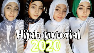 لفات طرح جديدة وسهلة 🧕❤ | 🙊Hijab tutorial 2020
