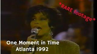 *rare video* whitney houston - one moment in time 1992 atlanta
