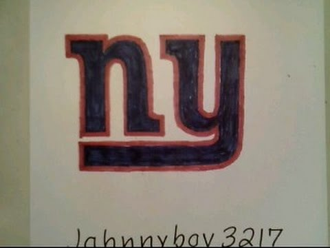 How To Draw New York Giants Logo Football Step By Step Tutorial Doodle Sketch Challenge