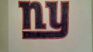 How To Draw New York Giants Logo Football Step By Step Tutorial Challenge