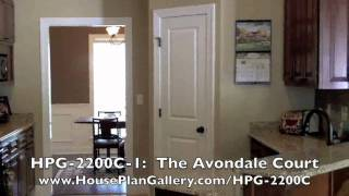 French Country House Plan Video Walkthrough Of Hpg-2200c-1 By Houseplangallery.com