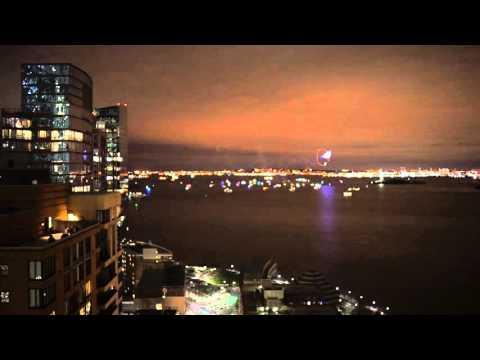 Fireworks New York Harbor New Year's 2016