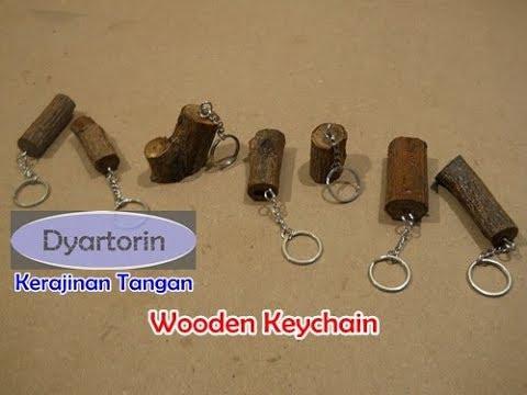 Cara mudah membuat gantungan kunci dari kayu limbah | diy easy wooden keychain