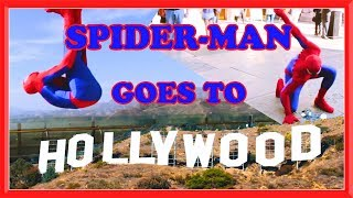 SPIDER-MAN goes to HOLLYWOOD in Real life | Parkour, Flips & Kicks