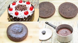 BLACK FOREST CAKE IN SAUCEPAN l EGGLESS & WITHOUT OVEN
