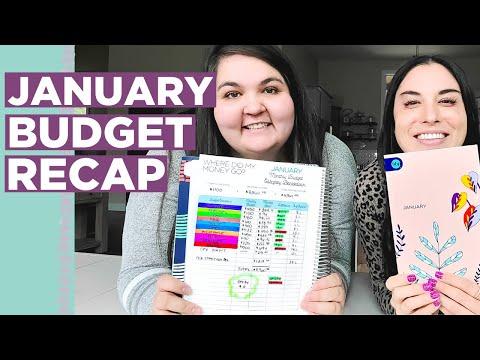 January 2021 Paycheck Budget Recap | Budget Tips + Savings Goals
