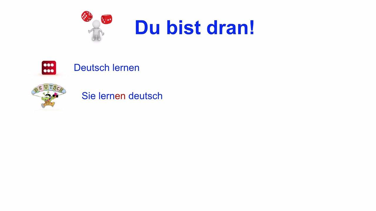 Spielen Konjugation Learn How To Conjugate The Weak Verbs In German Youtube