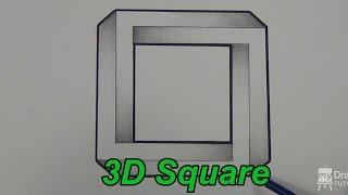 How To Draw An Impossible Square - 3D Square - Impossible Shapes (Narrated)