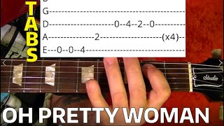 Oh Pretty Woman - Roy Orbison - Guitar Lesson WITH TABS