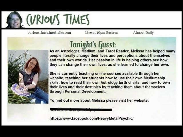 Curious Times – Astrologer Melissa Bruce