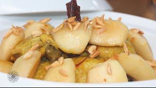 شميشة : طاجين أفخاذ الدجاج بالتفاح