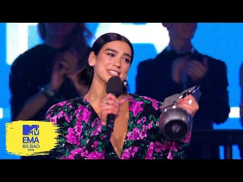 Dua Lipa Accepts Best Pop Award | MTV EMAs 2018