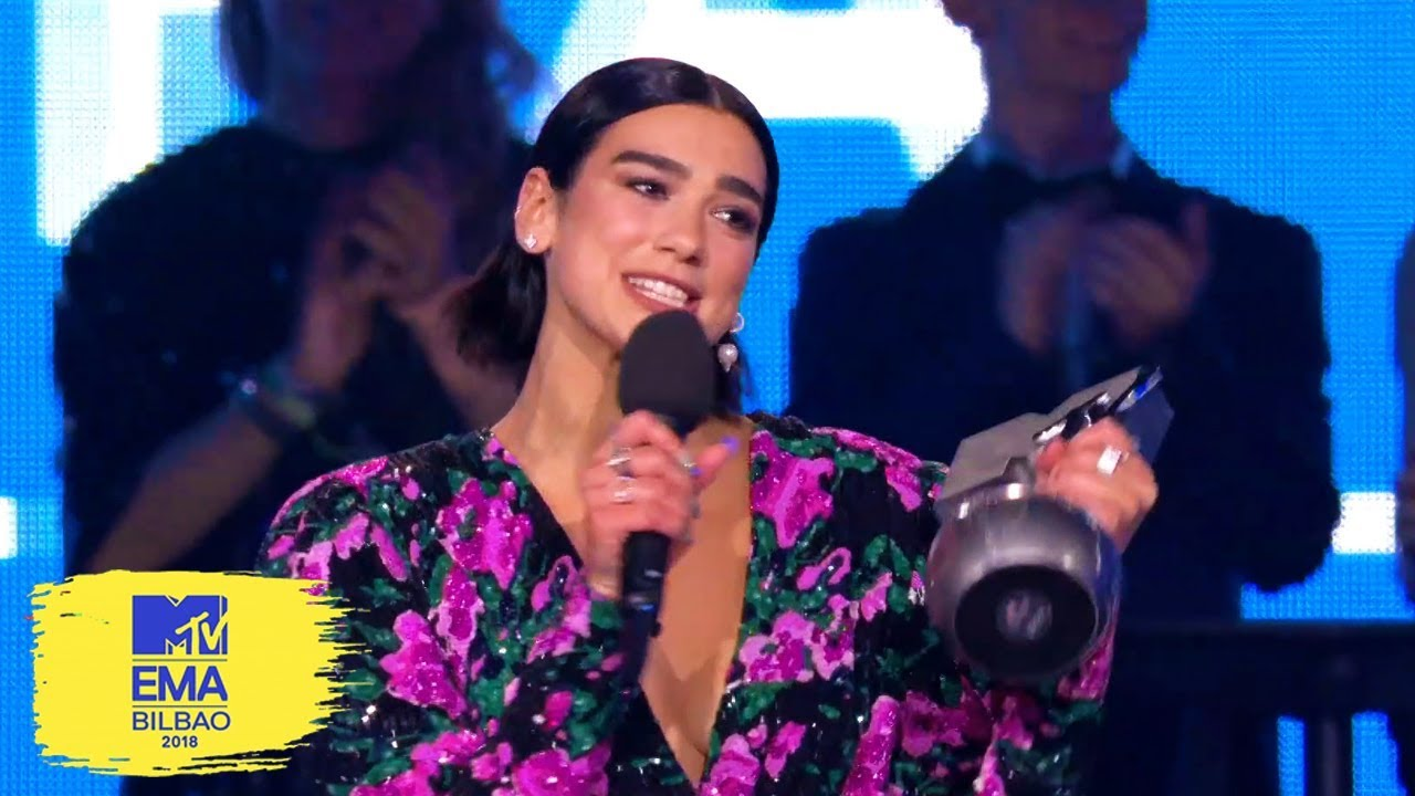 Dua Lipa Accepts Best Pop Award | MTV EMAs 2018