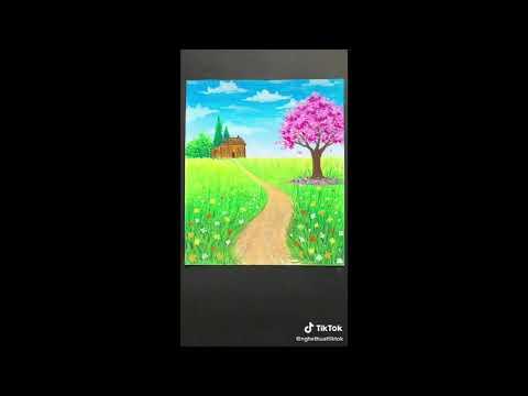 Hướng dẫn vẽ tranh phong cảnh đẹp lớp 9