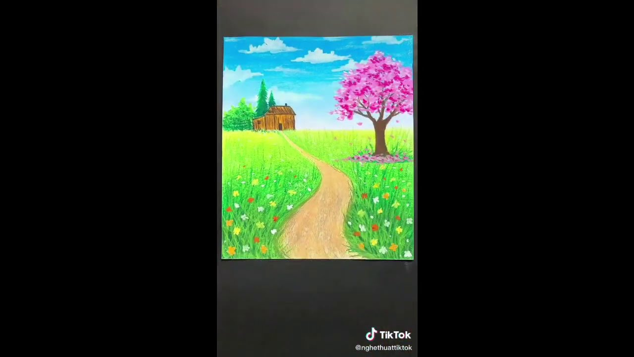 Hướng dẫn vẽ tranh phong cảnh đẹp lớp 9   Tất tần tật những tài liệu liên quan tranh vẽ phong cảnh của học sinh lop 9 mới cập nhật