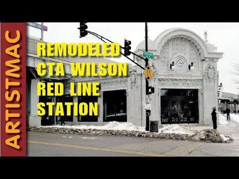 Remodeled CTA Red Line Wilson Station