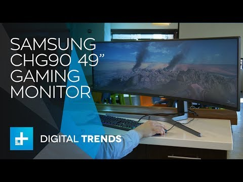 Samsung Chg90 49 Inch Gaming Monitor Hands On Review Youtube