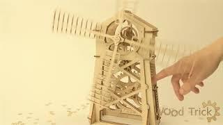 видео Модель Ветряная мельница А.П. Дурова C1713 СВмодель из России