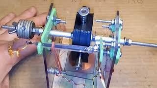 Moteur à répulsion magnétique nouveau rotor.