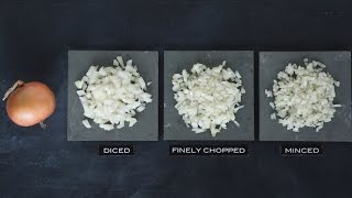 how to chop an onion using crystals