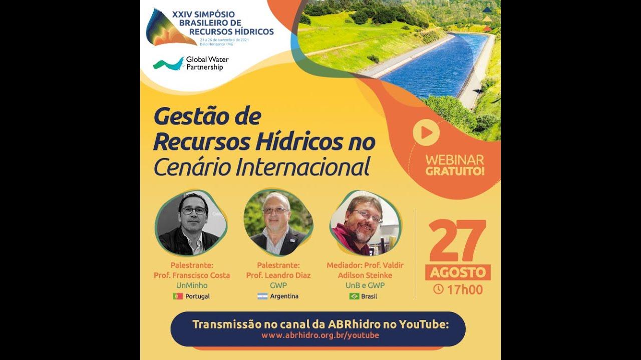 Webinar GWP - Gestão de Recursos Hídricos no Cenário Internacional