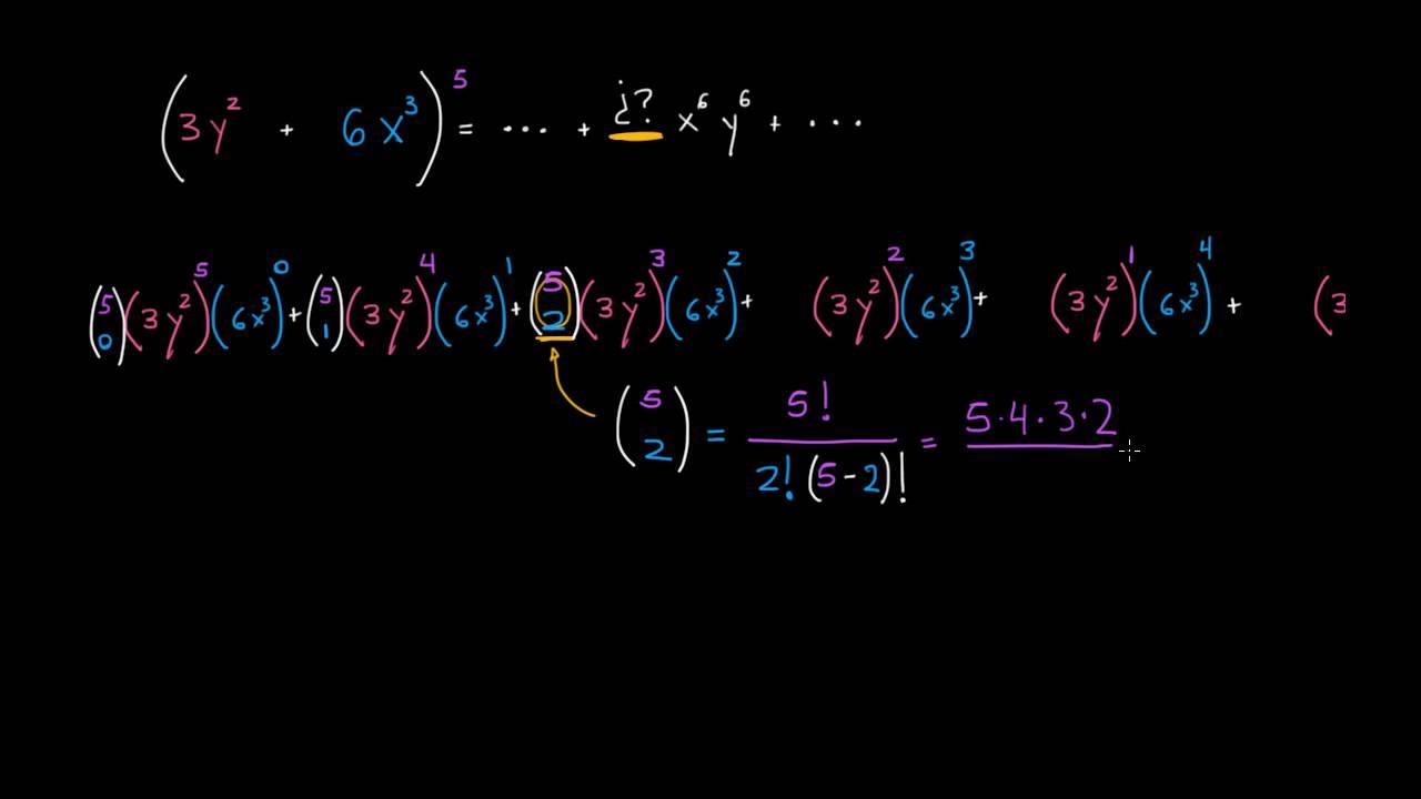 Determinando un coeficiente de una expansión binomial - YouTube