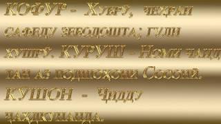 Таджикские имена НОМНОМА NOMNOMA часть 2