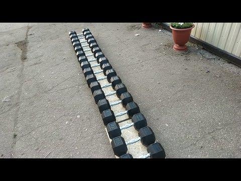 Спорт164.Обзор гантельного радя от 12,5 кг до 35 кг(гексагональные гантели