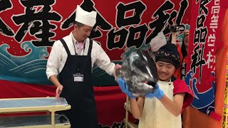 宇和島水産高等学校女子高生のマグロ解体ショー「フィッシュガール」